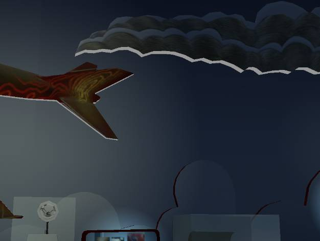 A screenshot from the upcoming Night at the Museum video games inspired by the Smithsonian -- it's night so the lights are turned off. (Courtesy of Majesco Entertainment.)