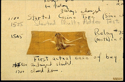 The computer bug lives on (figurtively) at the American History Museum