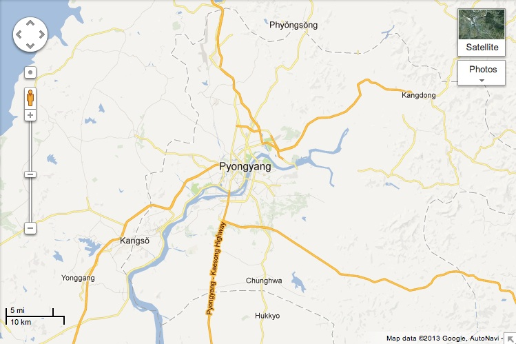 Googles New Maps Reveal That Yes There Are Roads In North Korea - Google river maps