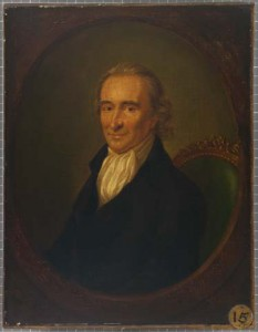 This portrait of Thomas Paine by French artist Laurent Dabos was recently gifted to the museum and inspired the Thomas Paine exhibit, says curator Margaret Christman. Image courtesy of the museum.
