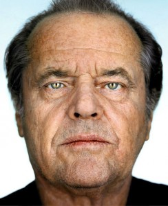 Martin Schoeller's portrait of Jack Nicholson