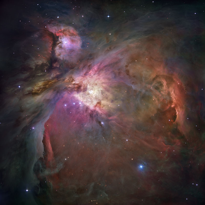 Orion nebula, as seen by Hubble (Credit: NASA,ESA, M. Robberto (Space Telescope Science Institute/ESA) and the Hubble Space Telescope Orion Treasury Project Team)