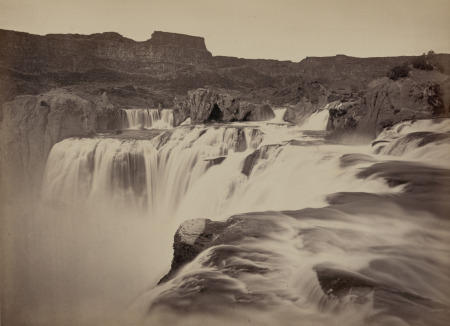 Shoshone Falls, Snake River, Idaho, View Across Top of Falls, 1874, by Timothy H. O'Sullivan. Courtesy of the Library of Congress, Prints and Photographs Division.