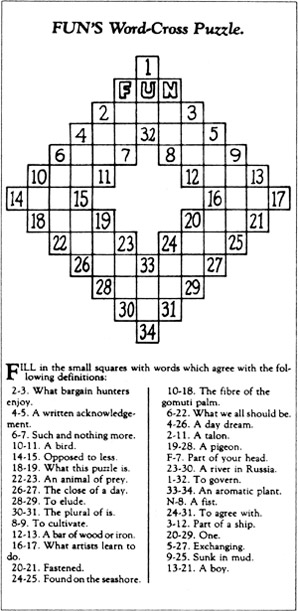 first crossword