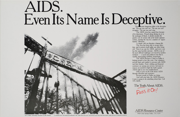 aids fear mongering cross