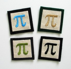pi patches (courtesy of flickr user pillowhead designs)