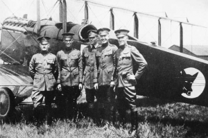Members of the Black Wolf Squadron (St. Clair Streett at far left)