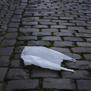 The lowly plastic bag--a necessary item or an ugly bit of pollution? (courtesy of flickr user frankservayge)