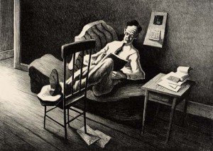 Poet (1938) by Thomas Hart Benton
