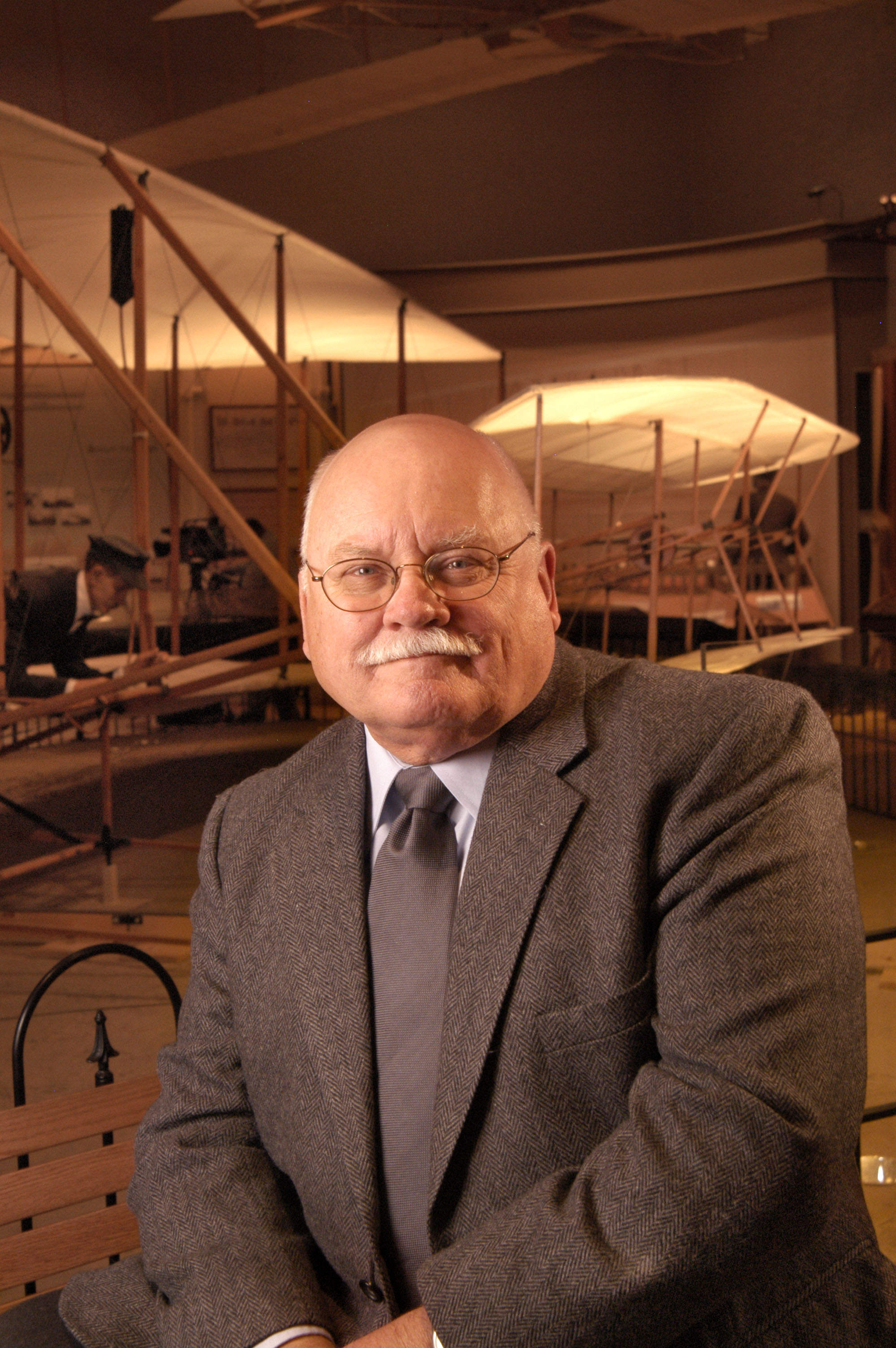 Tom Crouch, Senior Curator of Aeronautics at the National Air and Space Museum. Photo by Eric Long.