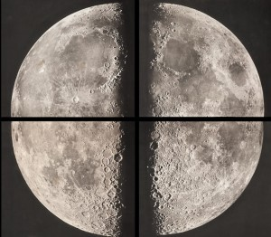 Pierre Henri Puiseux and Maurice Lowey's large-format quadrant of the moon. Photograph courtesy Bonhams.