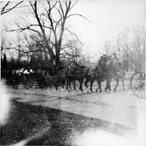 On January 25, 1904, a military procession to Smithsonian Institution grounds brings the remains of James Smithson (c.1765-1829) whose bequest created the Smithsonian. His remains had been transported by Alexander  Graham Bell, a member of the Board of Regents, from Genoa, Italy, after the Italian cemetery had fallen into neglect. Image courtesy of the Smithsonian Institution Archives