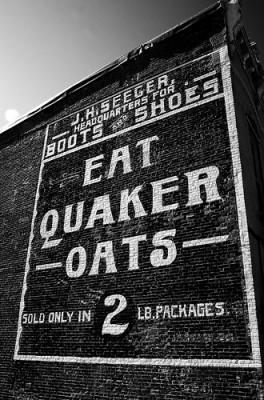 Quaker Oats became America's first trademarked breakfast cereal in 1877. Photo courtesy Flickr user Rob Shenk