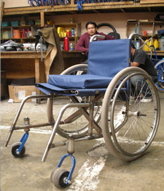 A mountain-bike inspired wheelchair by Intelligent Mobility International.