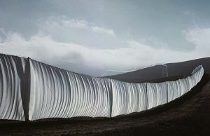 "The exhibition, Christo and Jeanne-Claude: Remembering the ""Running Fence"" is now on view at the Smithsonian American Art Museum. Photograph coutesy of the museum"
