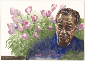Duke Ellington, by Tony Bennett, courtesy of the National Portrait Gallery
