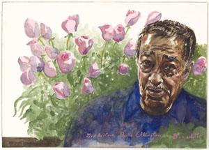 Duke Ellington, by Tony Bennett, courtesy of the National Portrait Gallery