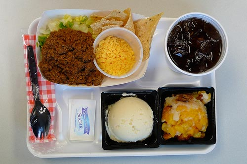 A school lunch, courtesy of Flickr user bookgrl