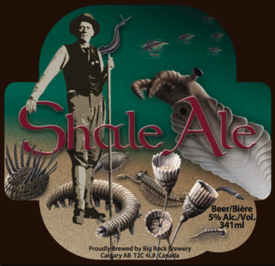 The Shale Ale label features artwork by Murray Coppold. Image courtesy of the Burgess Shale Geoscience Foundation.