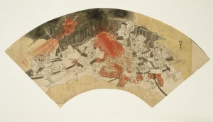 "Preliminary sketch for the ""Tale of Shuten Dōji"" by Kawanabe Kyōsai, 1831-1889. Courtesy of the Sackler Gallery."