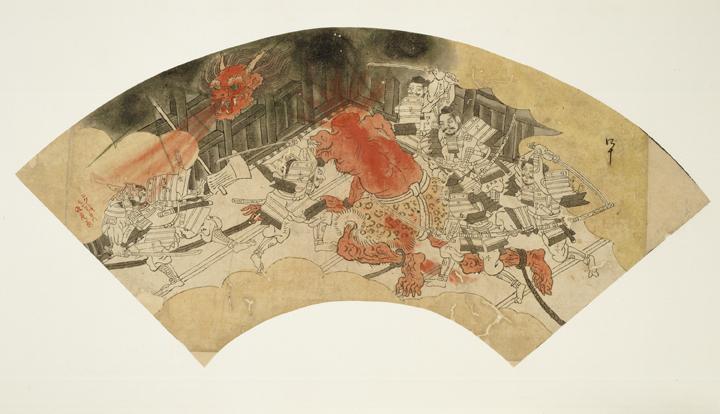 "Preliminary sketch for the ""Tale of Shuten Dōji"" by Kawanabe Kyōsai, 1831-1889. Courtesy of the Sackler Gallery."