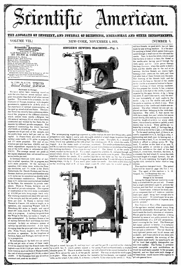The Many Many Designs Of The Sewing Machine Arts Culture Mesmerizing How Was The First Sewing Machine Made