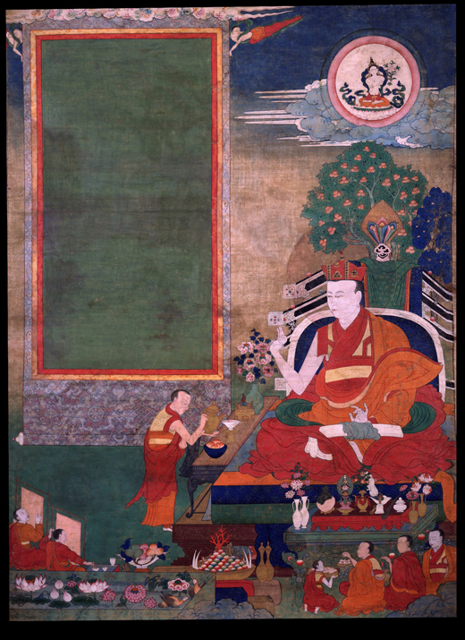 Situ Panchen, depicted here in an artwork believed to be painted by one of his students, was famous for reviving the Tibetan encampment style. Photo Courtesy of the