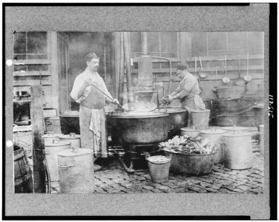 A municipal soup kitchen in Belgium, courtesy of the Library of Congress