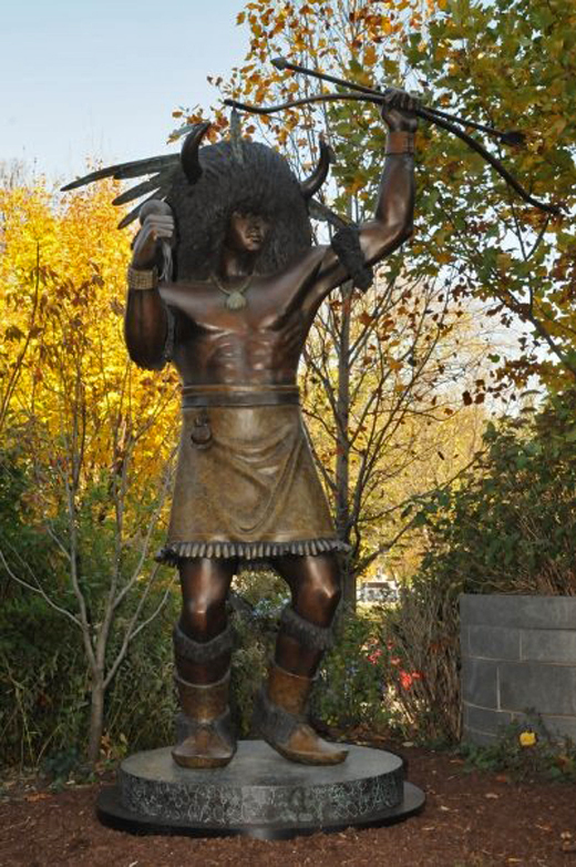 """Buffalo Dancer II"" stands near the entrance of the Smithsonian American Indian Museum. It is the first statue on The Mall to represent American Indians on the national level. Photo Courtesy of Leonda Lvchuck."