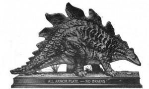 'Jingo' the Stegosaurus.