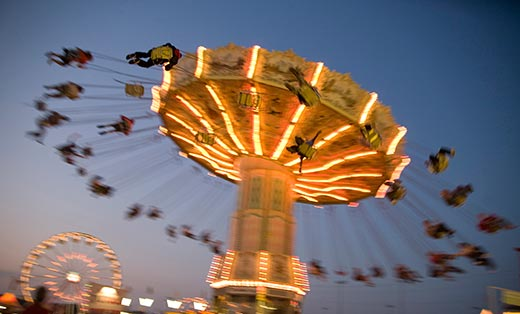 A ride at the Virginia State Fair by Gordon Stillman, the Americana category winner