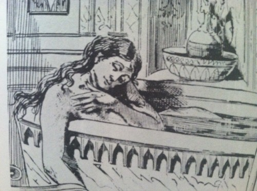 "An artist's rendering of Restell's suicide, 1878. From ""The Wickedest Woman in New York."""