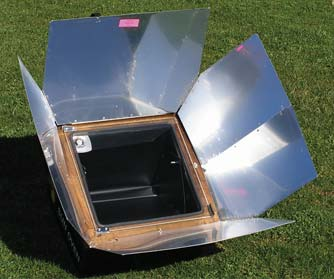 A sun oven, courtesy of the Solar Cooking Wiki