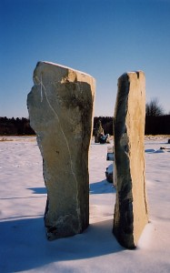 Two of the Amherst monoliths.