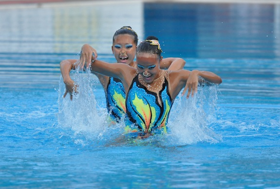7f2650679f Chen Mei Qi Stephanie and Yap Yu Hui Crystal compete in the Southeast ASian  Swimming Championships this year. Image: Singapore Sports