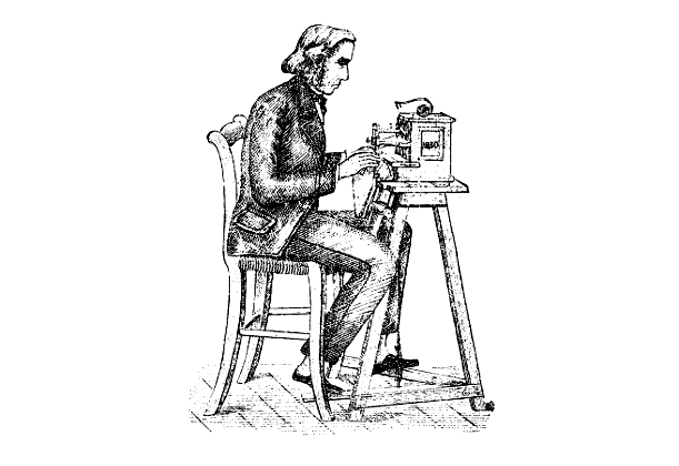 The Many Many Designs Of The Sewing Machine Arts Culture Extraordinary Thomas Saint Sewing Machine Inventor Biography