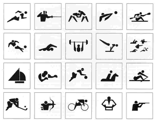The History Of The Olympic Pictograms How Designers Hurdled The
