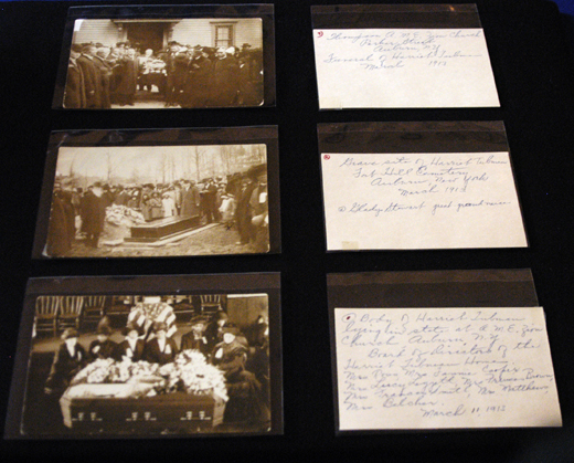 These three photographs of Harriet Tubman's funeral, with hand-written descriptions from one of Tubman's relatives, were donated to the National Museum of African American History and Culture, along with several other artifacts that belonged to Tubman.