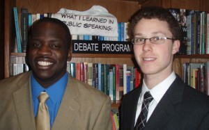 The University Mary Washington debate team will tackle health care and the economy.