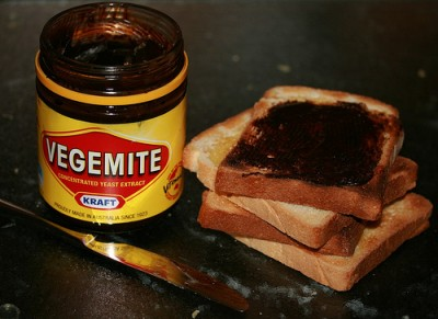 Vegemite on toast, courtesy Flickr user Stephen Mitchell