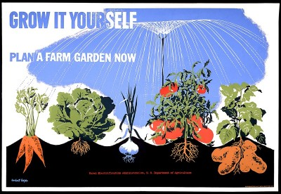 Victory Garden poster, courtesy Smithsonian Photographic Services.