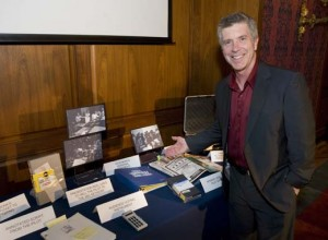 Current AFV host, Tom Bergeron, and donated artifacts