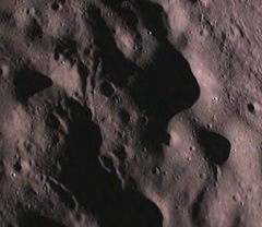 Close-up of the lunar surface close up pictures of the moon's surface taken by the Moon Impact Probe (MIP) after separating from the Chandrayaan-1 spacecraft.