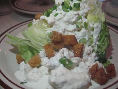Iceberg wedge salad, courtesy Flickr user SauceSupreme.