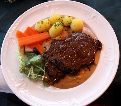 Whale steak at a Reykjavik restaurant. Courtesy of Flickr user ChrisGoldNY