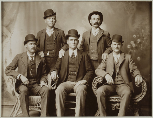 """Faces of the Frontier"" tells the stories of the West through photographic portraits. (The Wild Bunch by John Swartz, 1900) Image courtesy of the National Portrait Gallery."
