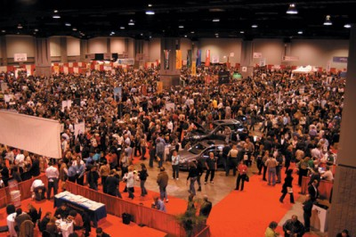 The expo floor at the wine festival