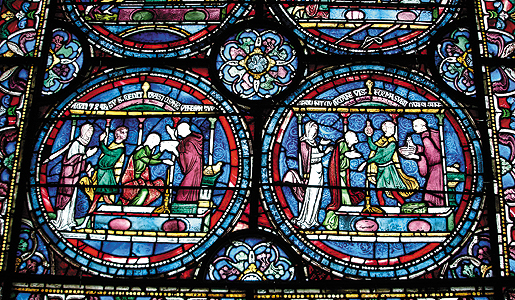 12th-century stained glass from the Canterbury Cathedral
