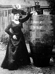 "Annie Edson Taylor, aka ""Queen of the Mist"", was the first person to go over Niagara Falls in a barrel and survive."