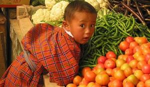 A boy in Bhutan